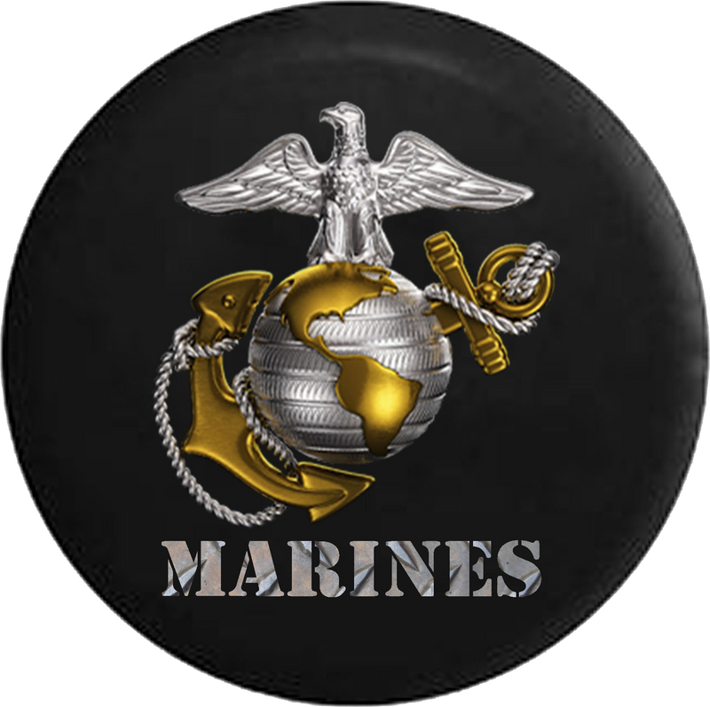 USMC United States Marine Corp Eagle Globe Anchor Jeep Camper Spare Tire Cover CUSTOM SIZE/COLOR/INK- P104 - TireCoverPro
