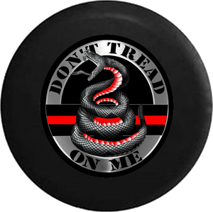 Jeep Wrangler Tire Cover With Don't Tread on Me Snake (Wrangler JK, TJ, YJ)