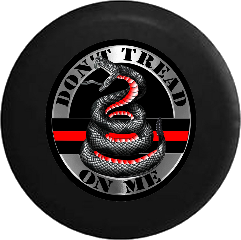 Jeep Wrangler Tire Cover With Don't Tread on Me Snake (Wrangler JK, TJ, YJ) - TireCoverPro