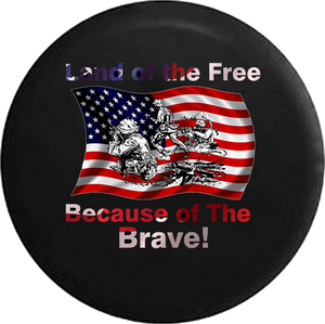 Jeep Liberty Tire Cover With Free Land Because of Brave