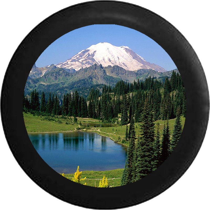 Jeep Wrangler Tire Cover With Pine Forest Print (Wrangler JK, TJ, YJ)