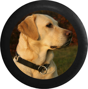 Golden Lab Labrador Retreiver Family Loyal Hunting Dog Jeep Camper Spare Tire Cover BLACK-CUSTOM SIZE/COLOR/INK- R114 - TireCoverPro