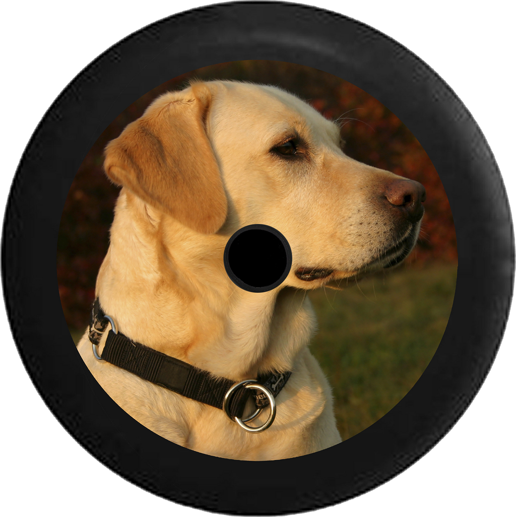 Jeep Wrangler JL Backup Camera Golden Lab Labrador Retreiver Family Loyal Hunting Dog Jeep Camper Spare Tire Cover 35 inch R114