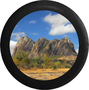 Mountain Plateau Wildlife Landscape Scene Jeep Camper Spare Tire Cover 35 inch R117