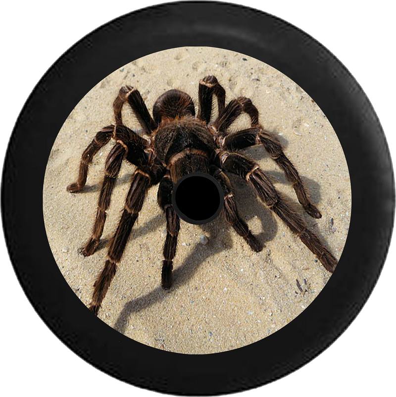 Jeep Wrangler JL Backup Camera Tarantula Spider on Desert Sand Jeep Camper Spare Tire Cover 35 inch R151
