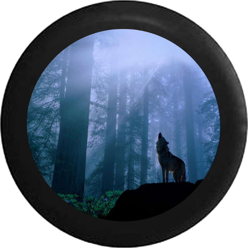 Wolf Howling at the Moon Forest Lone Predator Jeep Camper Spare Tire Cover 35 inch R158