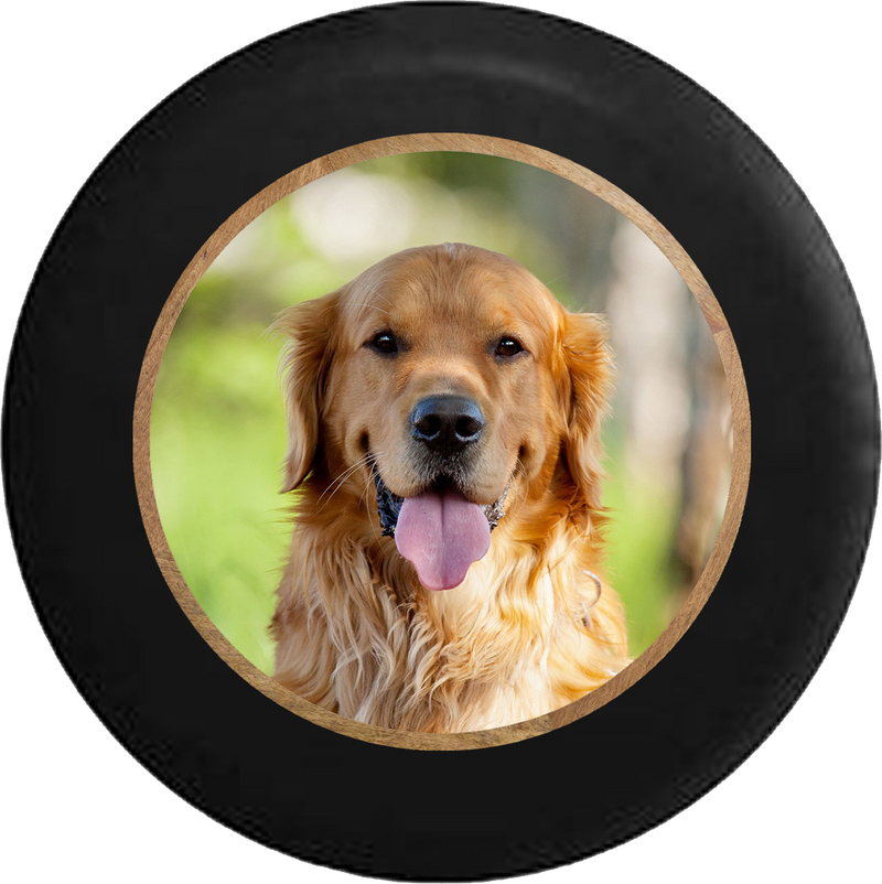Golden Lab Retriever Hunting Dog - Man's Best Friend Jeep Camper Spare Tire Cover 35 inch R178