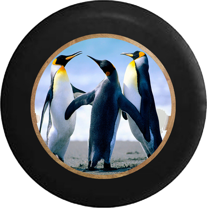 Jeep Wrangler Tire Cover With Penguins Print (Wrangler JK, TJ, YJ)
