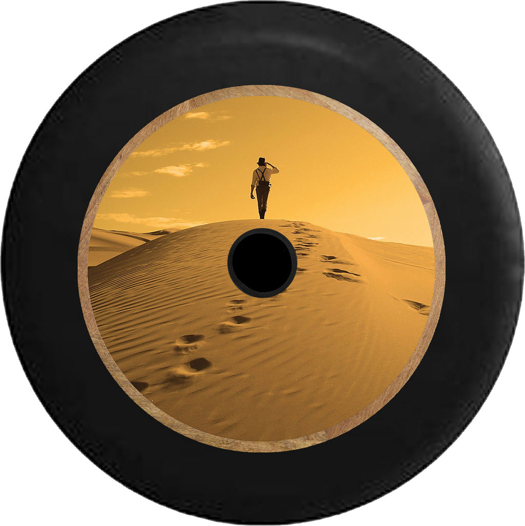 Jeep Wrangler JL Backup Camera Desert Walk thru the Sahara to the Oasis Jeep Camper Spare Tire Cover 35 inch R204