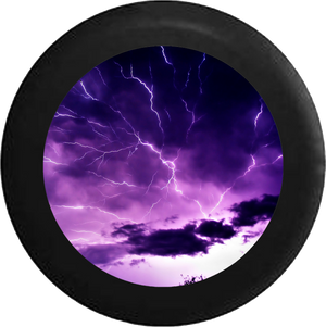 Lightning Storm Electric Sky Jeep Camper Spare Tire Cover 35 inch R209