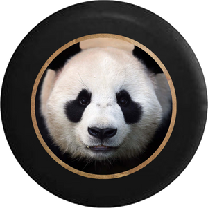 Cute Panda Staring Back at You Jeep Camper Spare Tire Cover BLACK-CUSTOM SIZE/COLOR/INK- R216 - TireCoverPro
