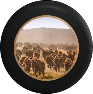 Jeep Wrangler Spare Tire Cover With Bulls Running (Wrangler JK, TJ, YJ)