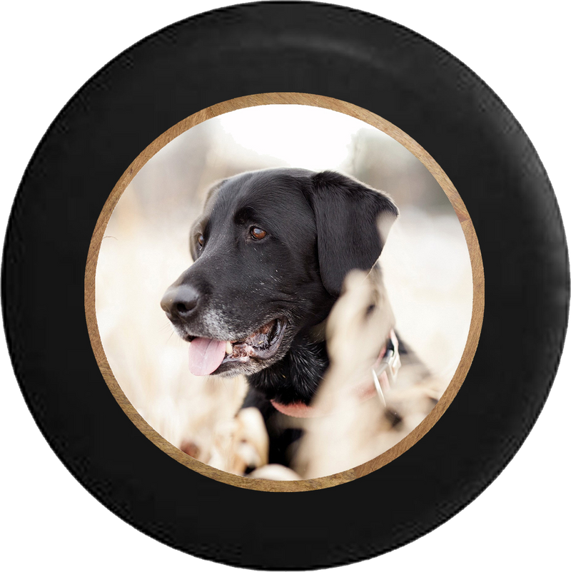 Black Lab Retriever Hunting Dog Jeep Camper Spare Tire Cover 35 inch R229