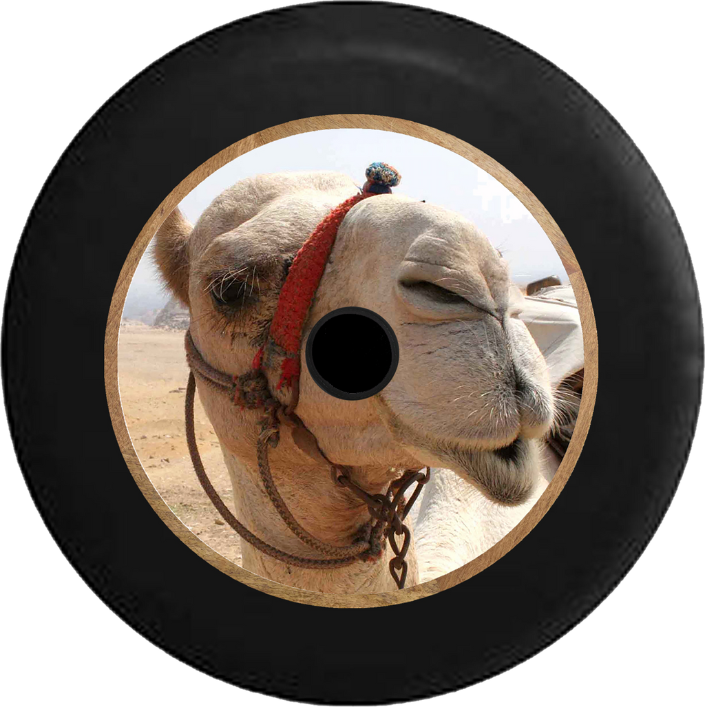 Jeep Wrangler JL Backup Camera Desert Camel Closeup Jeep Camper Spare Tire Cover 35 inch R240