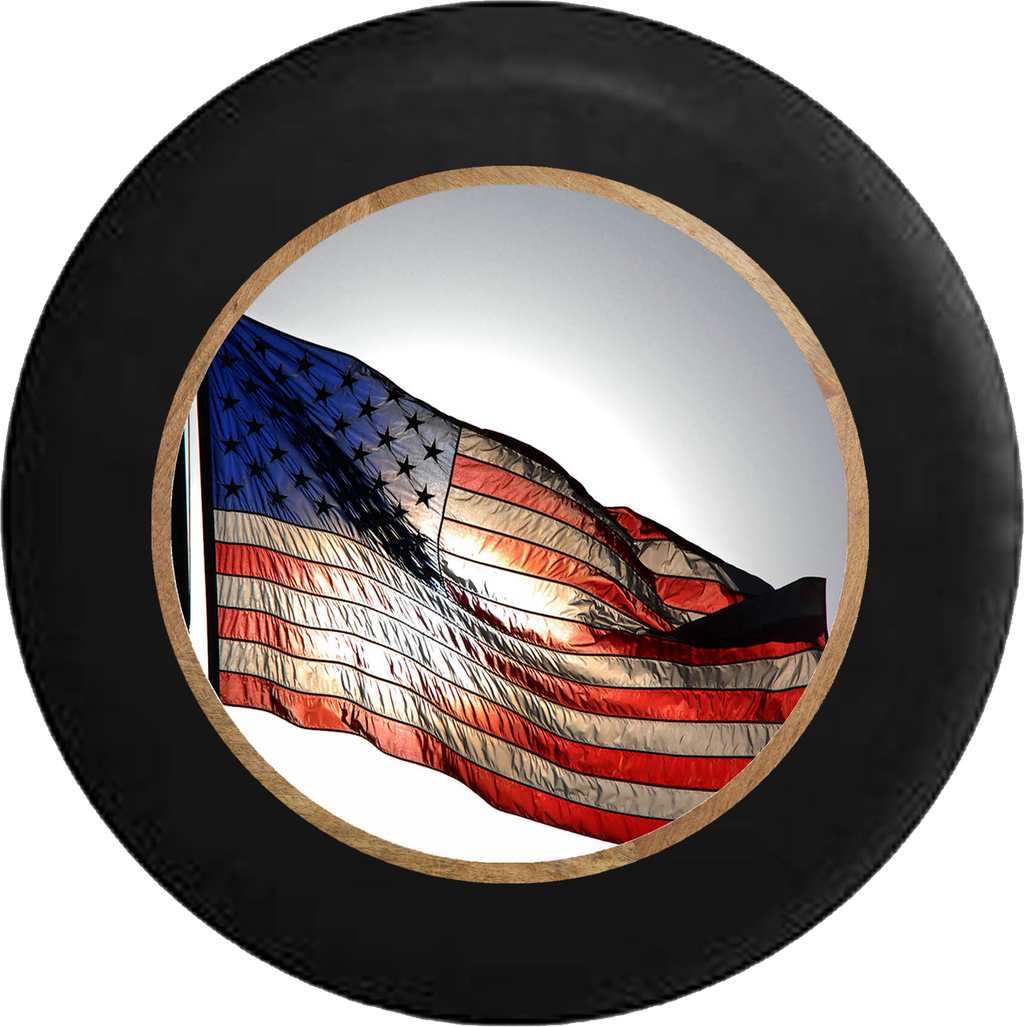 Jeep Wrangler Tire Cover With US Flag (Wrangler JK, TJ, YJ)