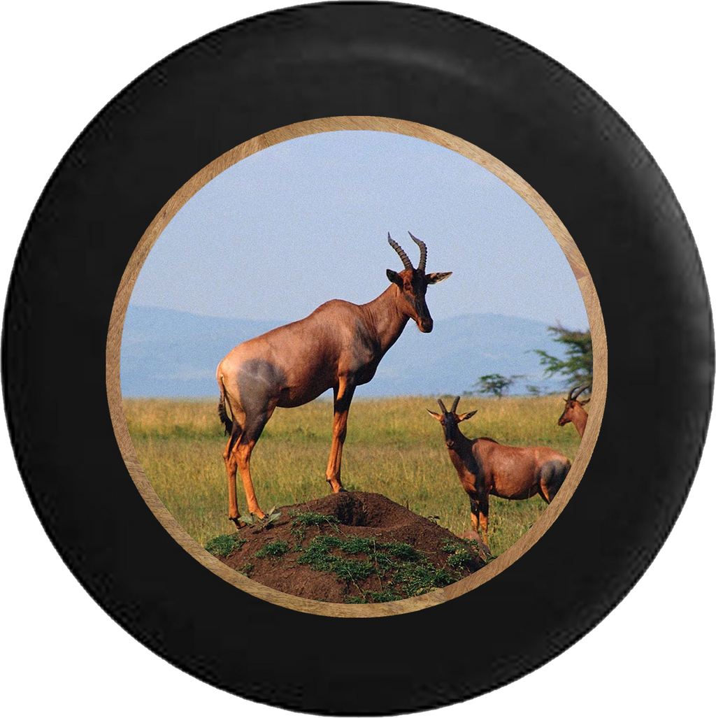 Antelopes in the Wild Jeep Camper Spare Tire Cover BLACK-CUSTOM SIZE/COLOR/INK- R261 - TireCoverPro