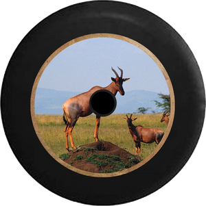 Jeep Wrangler JL Backup Camera Antelopes in the Wild Jeep Camper Spare Tire Cover 35 inch R261