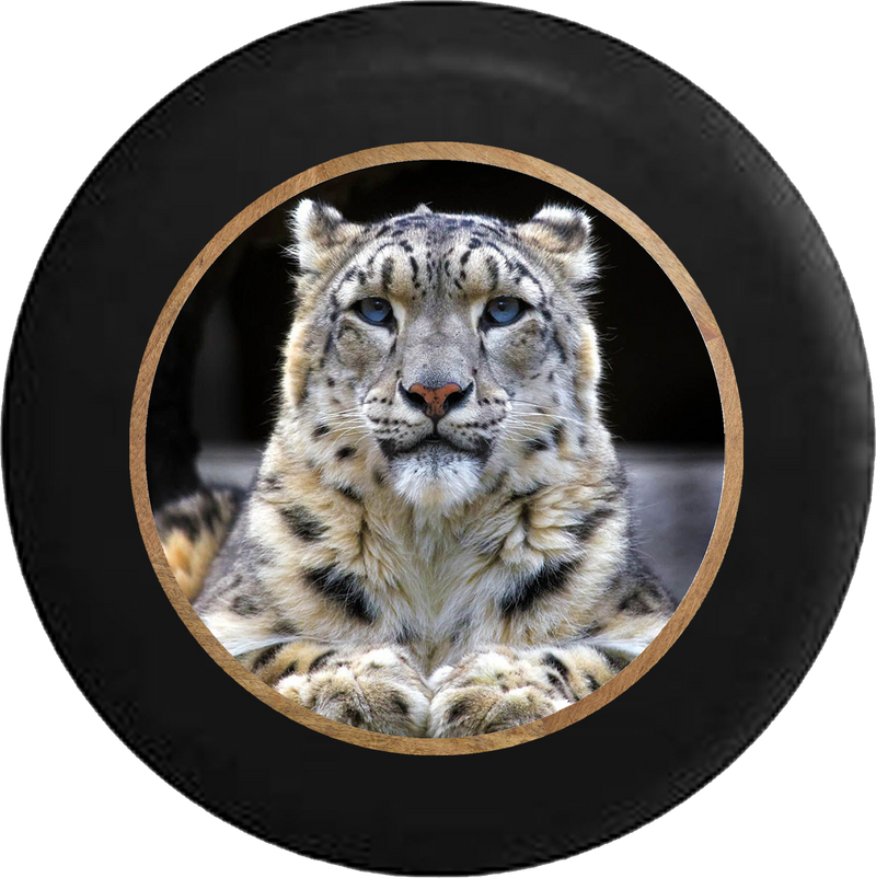 Blue Eyed Leopard Tiger Jungle Cat Jeep Camper Spare Tire Cover BLACK-CUSTOM SIZE/COLOR/INK- R265 - TireCoverPro