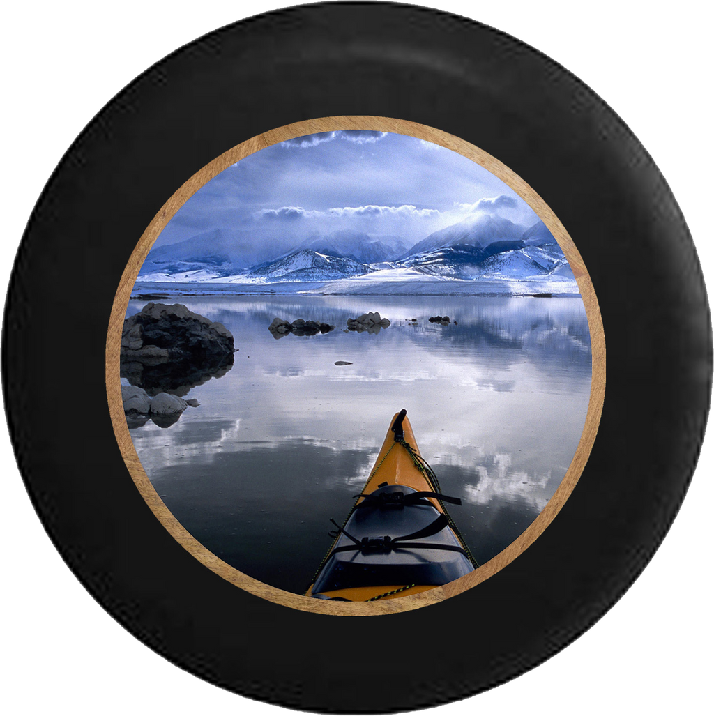 Alaska Sea Kayak in the Ocean Peaceful Serenity Jeep Camper Spare Tire Cover 35 inch R298