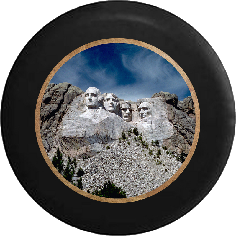 Mount Rushmore US Presidential Carving Jeep Camper Spare Tire Cover 35 inch R329