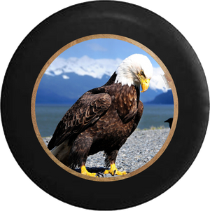 Jeep Liberty Spare Tire Cover With Sharp Eagle (Liberty 02-12) - TireCoverPro