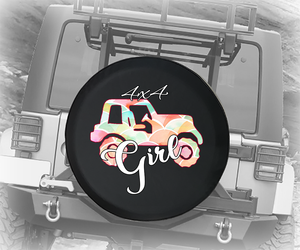 4x4 Girl Pastel American Offroad - Spare Tire Cover