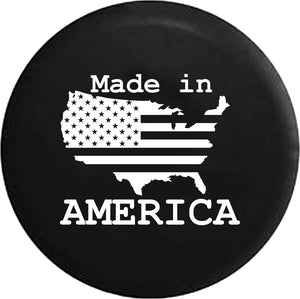 US United States Flag Made In America Trailer RV Offroad RV Camper Spare Tire Cover-custom