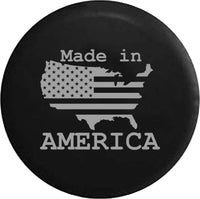 US United States Flag Made In America Trailer RV Offroad RV Camper Spare Tire Cover-35 inch