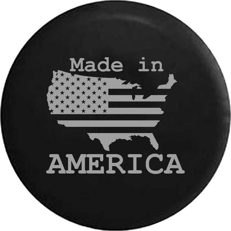 US United States Flag Made In America Trailer RV Offroad RV Camper Spare Tire Cover- Custom - TireCoverPro