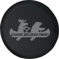 Moose Bear Canoe Outdoors Funny Camping Jeep Offroad Jeep RV Camper Spare Tire Cover S267