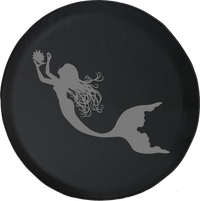 Jeep Wrangler Spare Tire Cover With Mermaid (Wrangler JK, TJ, YJ)