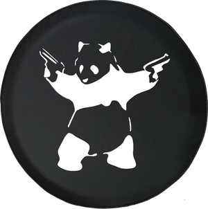 Panda with GunsOffroad Jeep RV Camper Spare Tire Cover S274