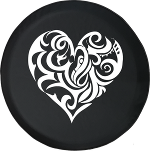 Jeep Liberty Tire Cover With Artistic Heart (Liberty 02-12)