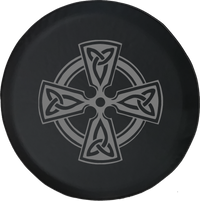Celtic Cross Knot Irish Shield Warrior Offroad Jeep RV Camper Spare Tire Cover S277