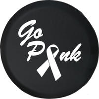Jeep Liberty Tire Cover With Go Pink