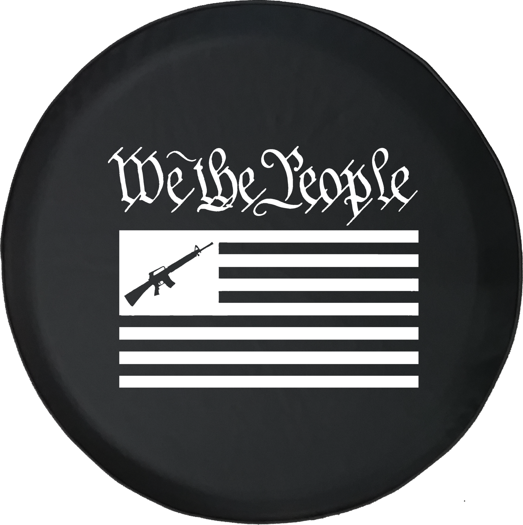 JKqueen WWG1WGA Qanon Political Conspiracy Spare Tire Cover Universal Wheel Tire Cover for Jeep Trailer RV SUV Truck Camper Travel Trailer Accessories