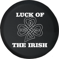 Luck of the Irish Celtic Shamrock IRA Ireland Offroad Jeep RV Camper Spare Tire Cover S304