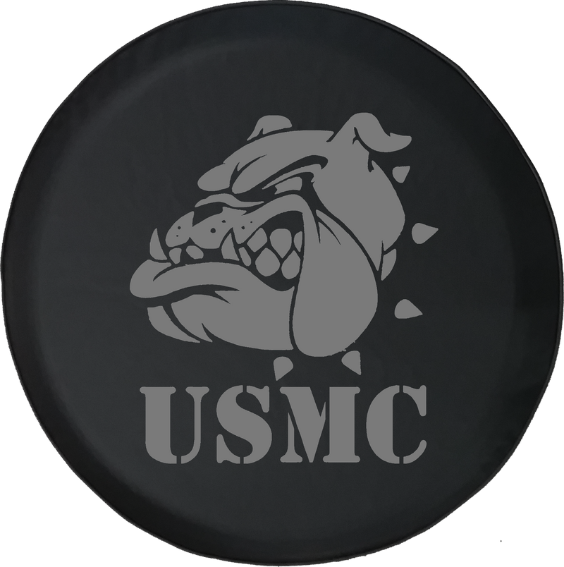 Jeep Liberty Spare Tire Cover With USMC Bulldog (Liberty 02-12)