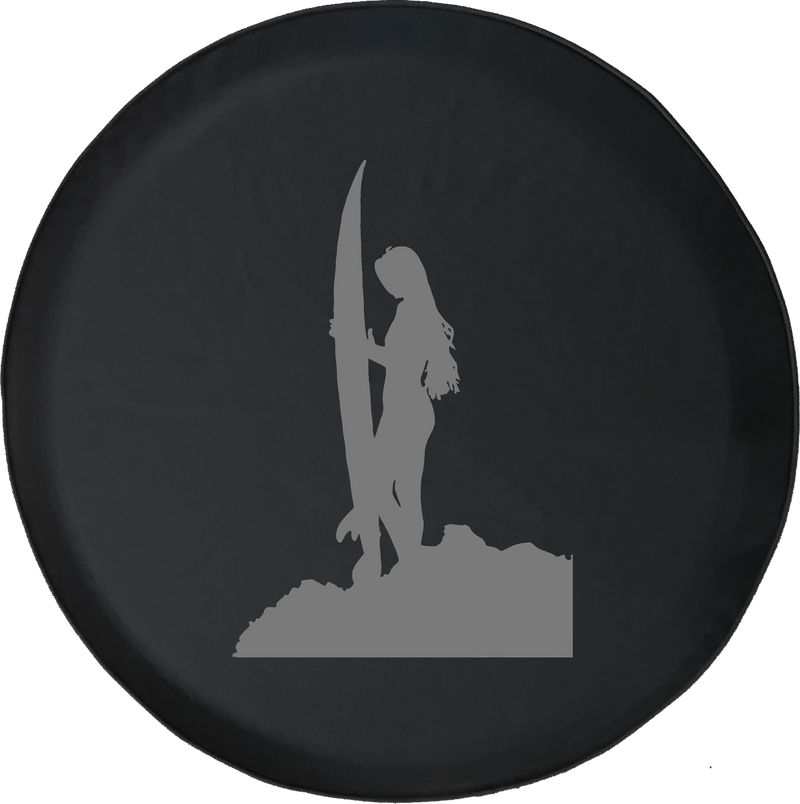 Jeep Liberty Spare Tire Cover With Surfing Girl (Liberty 02-12)