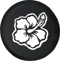 Hibiscus Hawaiian Tropical Flower Offroad Jeep RV Camper Spare Tire Cover T161