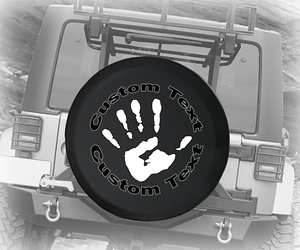 The Wave Offroad Club Handprint - Personalized Spare Tire Cover