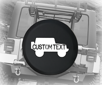 Simple American 4x4 Military Text - Personalized Spare Tire Cover