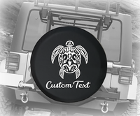 Sea Turtle Tropical Beach Design- Personalized Spare Tire Cover