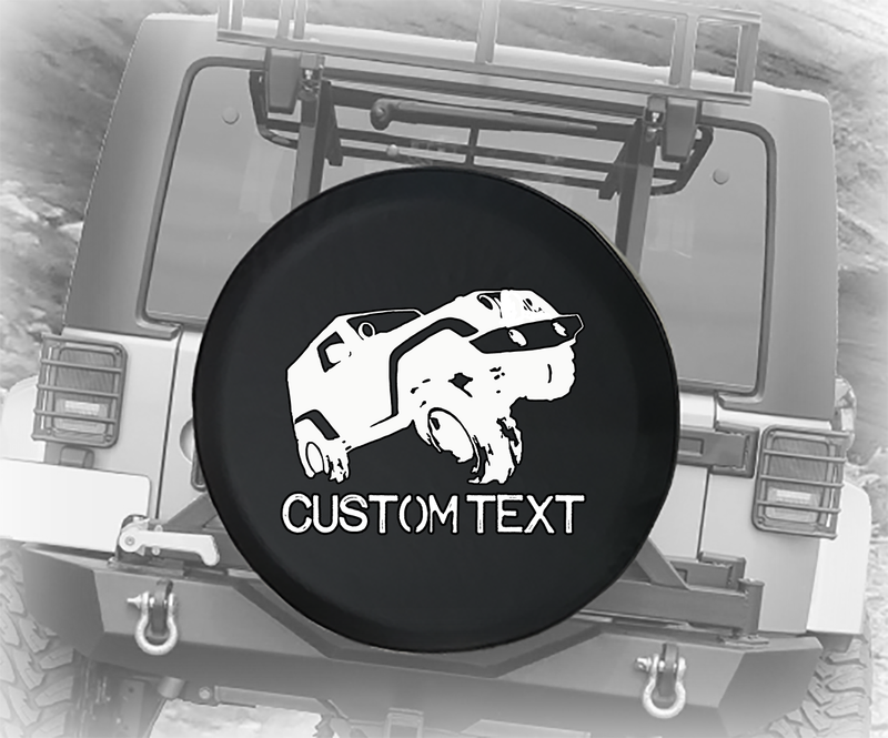 US Military Offroad Lifted 4x4 - Personalized Spare Tire Cover