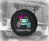 Pastel Watercolor American 4x4 for Girls - Personalized Spare Tire Cover