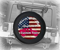 Pink American Flag Not My Husbands Topless- Personalized Spare Tire Cover