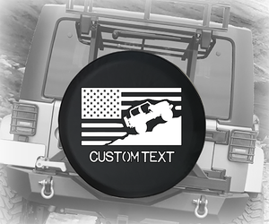 American Offroad USA Flag- Personalized Spare Tire Cover