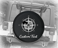 Nautical Compass Map American 4x4- Personalized Spare Tire Cover