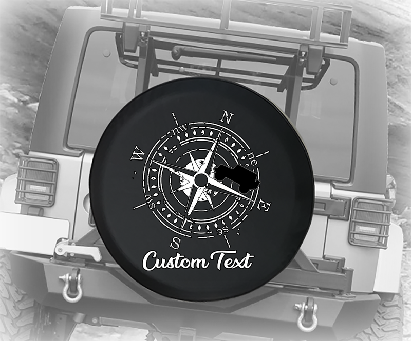 Vintage Compass American 4x4 - Personalized Spare Tire Cover