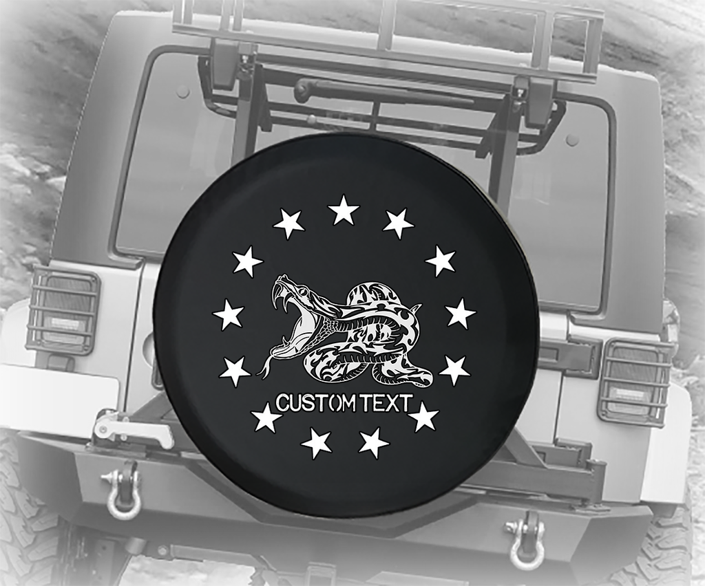 American Stars Snake Attack - Personalized Spare Tire Cover